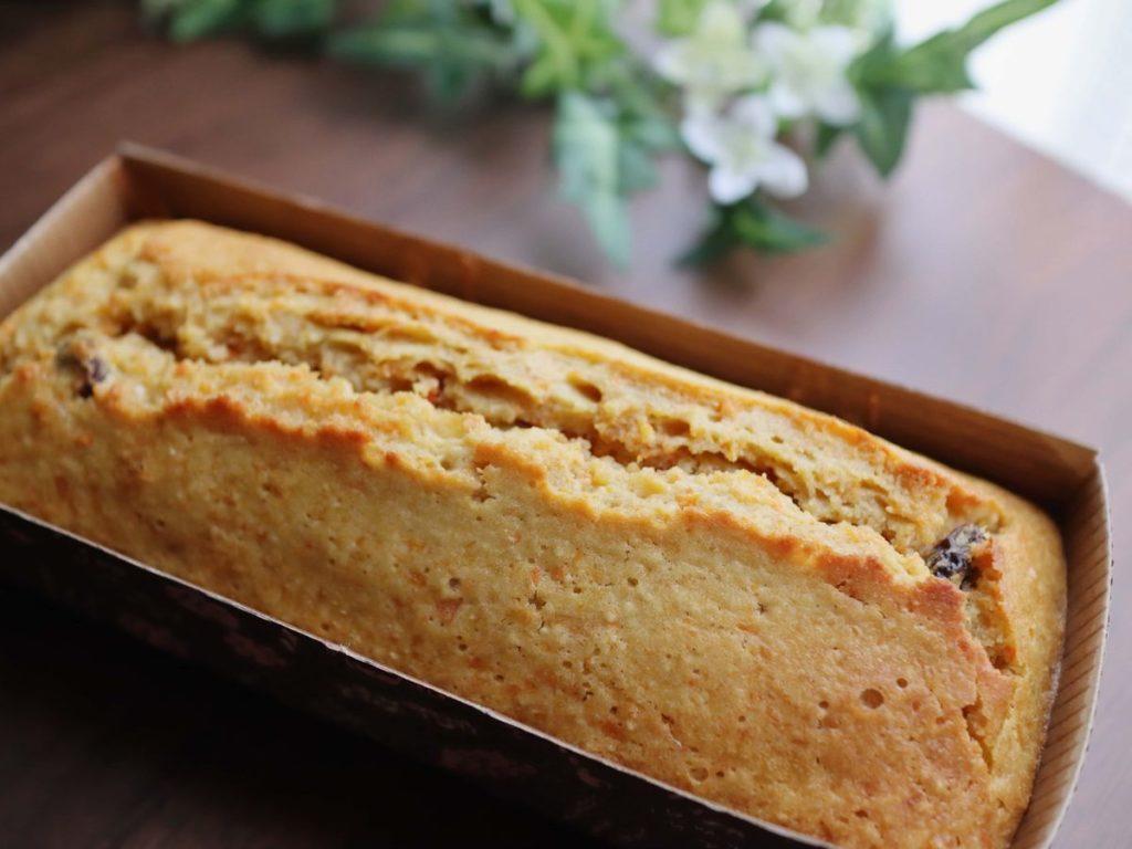紙型で焼いたパウンドケーキ