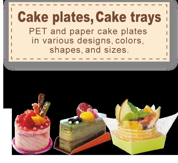 Cake plates, Cake trays
