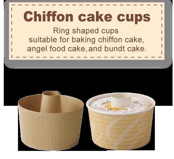 Chiffon cake cups