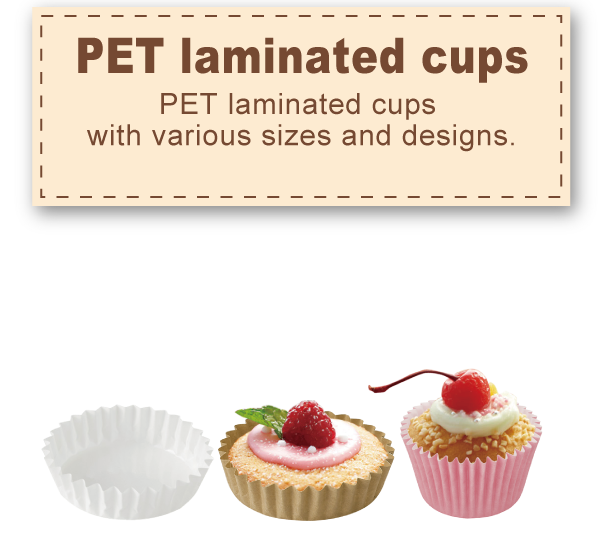 PET laminated cups