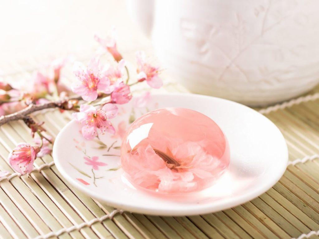 桜の花のゼリー