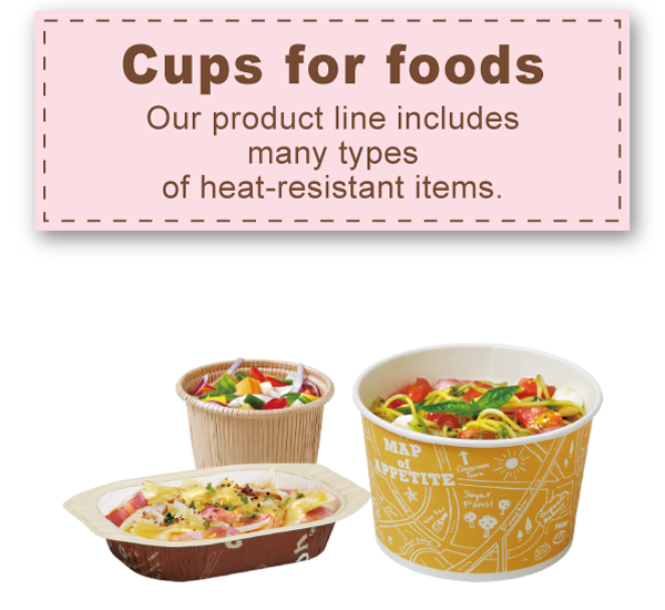 Cups for foods