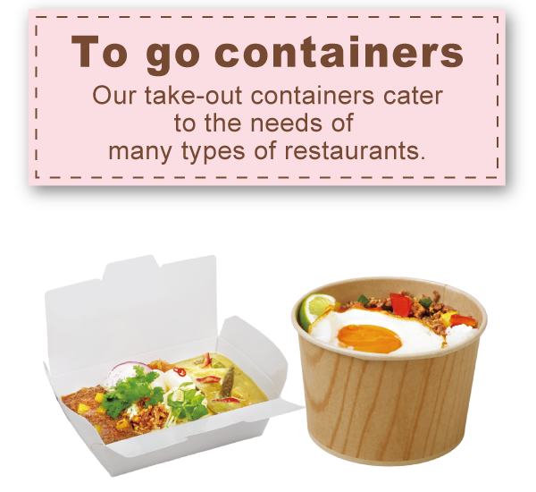 To go containers